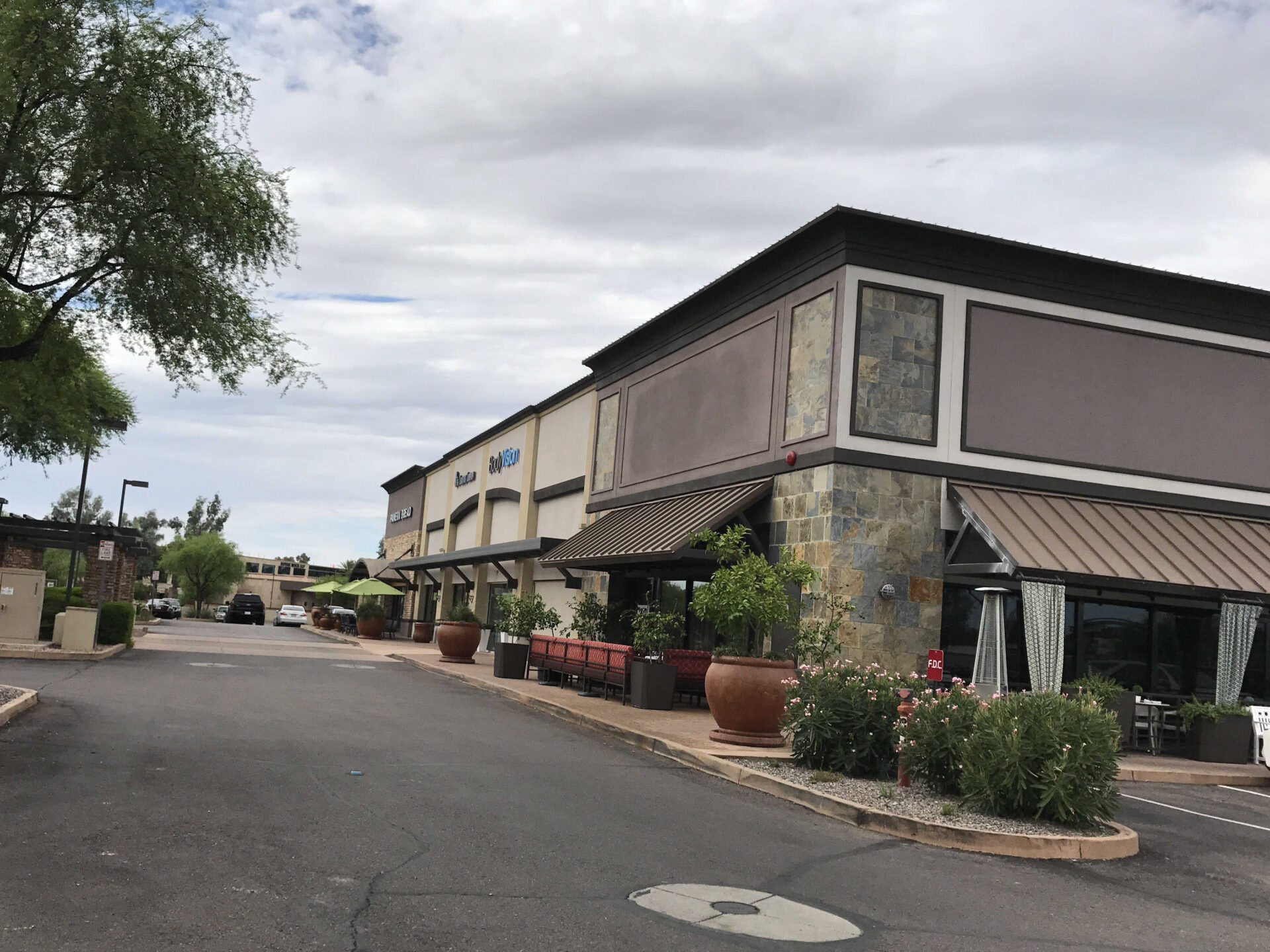 After Painting the Exterior of a Strip mall in Scottsdale