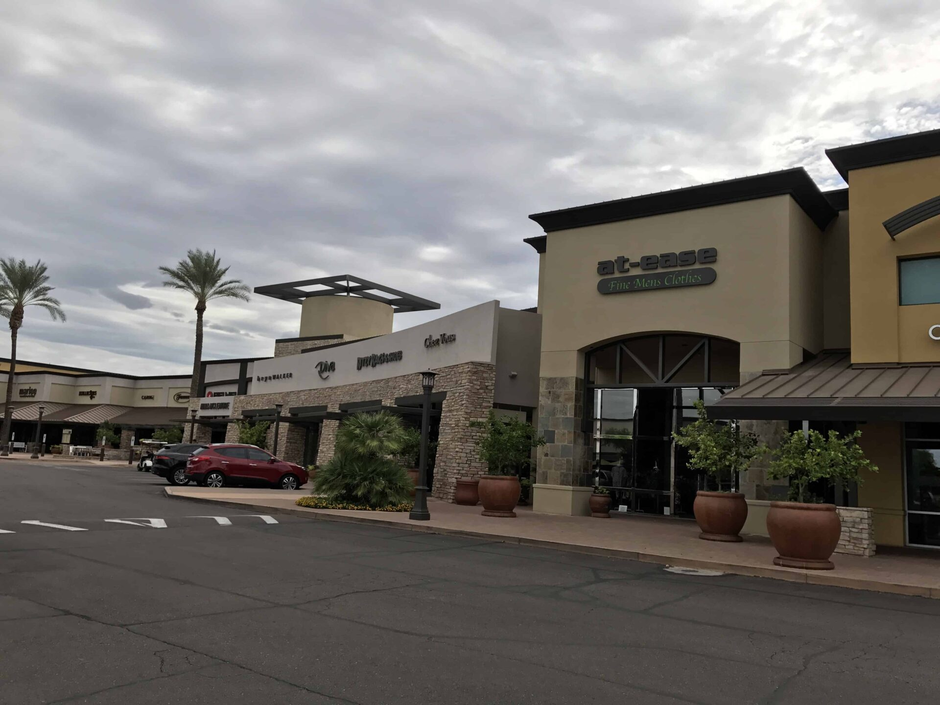 Exterior of a Commercial Strip Mall New Paint Job