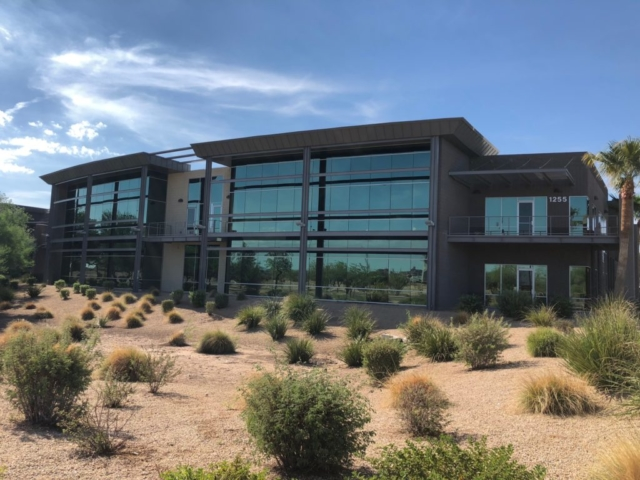 Newly painted commercial office with beautiful landscape