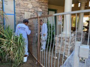 Glass Bead Blasting Wrought Iron Fencing